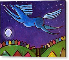 Fly Free From Normal Acrylic Print by Angela Treat Lyon