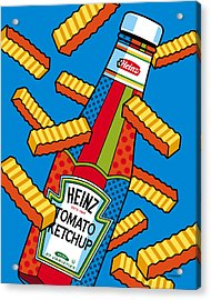 Flying Fries Acrylic Print by Ron Magnes