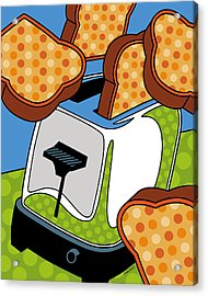 Flying Toast Acrylic Print by Ron Magnes