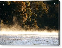 Fog On The Catawba Acrylic Print by Greg Simmons