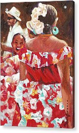 Folklorica I Acrylic Print by Monica Linville