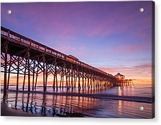 Folly Beach Fishing Pier Acrylic Print by Steve DuPree
