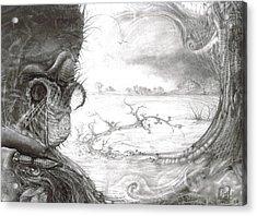 Fomorii Swamp Acrylic Print by Otto Rapp