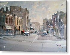 Fond Du Lac - Main Street Acrylic Print by Ryan Radke