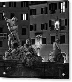 Fontana Del Nettuno Acrylic Print by Fabrizio Troiani