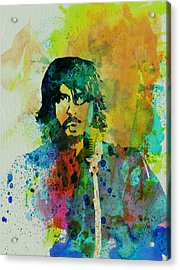 Foo Fighters Acrylic Print by Naxart Studio