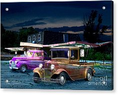 Food And Foam Acrylic Print by Tom Straub