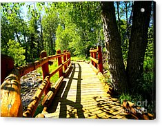 Foot Bridge Acrylic Print by Cheryl Young