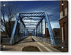 Foot Bridge Over The Grand River Acrylic Print by Richard Gregurich