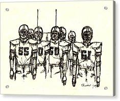 Football Nasties Acrylic Print by Brett H Runion
