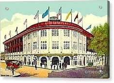 Forbes Field Baseball Stadium In Pittsburgh Pa In 1910 Acrylic Print by Dwight Goss