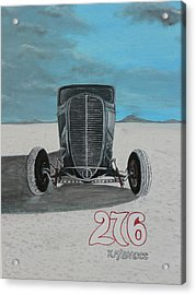 Ford 34' At Bonneville Acrylic Print by Chris Lambert