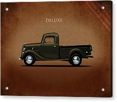 Ford Deluxe Pickup 1937 Acrylic Print by Mark Rogan