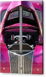 Ford Hot Rod Grille Acrylic Print by Jill Reger