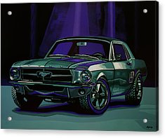 Ford Mustang 1967 Painting Acrylic Print by Paul Meijering