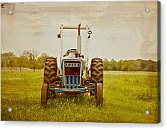 Ford Tractor Acrylic Print by Toni Hopper