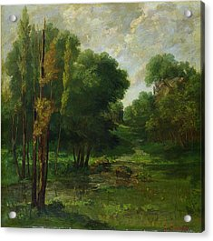 Forest Landscape Acrylic Print by Gustave Courbet
