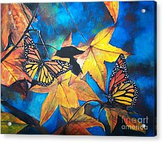 Forever Fall Acrylic Print by Laneea Tolley