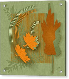 Forever Leaves Acrylic Print by Ben and Raisa Gertsberg
