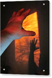 Forever Living Hands Acrylic Print by Guy Ricketts