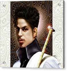 Forevermore The Young Prince Of Paisley 1a Acrylic Print by Reggie Duffie