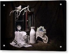 Forget Me Not Still Life Acrylic Print by Tom Mc Nemar