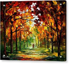 Forrest Of Dreams Acrylic Print by Leonid Afremov