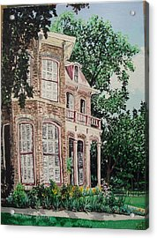 Fort Smith Art Center Acrylic Print by Sharon  De Vore