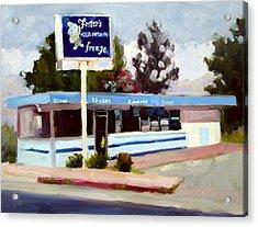 Foster's Freeze Acrylic Print by Deborah Cushman