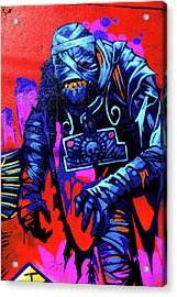 Found Graffiti 25 Mummy Acrylic Print by Jera Sky