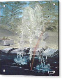 Fountain At Cataraqui Acrylic Print by Campbell Dickison