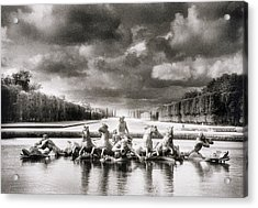 Fountain With Sea Gods At The Palace Of Versailles In Paris Acrylic Print by Simon Marsden