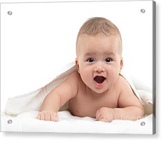 Four Month Old Baby Boy Acrylic Print by Oleksiy Maksymenko