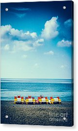 Four Pedal Boats Acrylic Print by Silvia Ganora