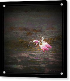 Four Spoons On The Marsh Acrylic Print by Marvin Spates