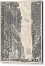 Fourth Avenue Acrylic Print by Joseph Pennell
