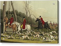 Fox Hunting Going Into Cover Acrylic Print by Henry Thomas Alken