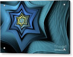 Fractal Star Acrylic Print by John Edwards