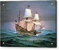 Francis Drake Sailed His Ship Golden Hind Into History Acrylic Print by Cornelis de Vries