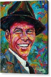 Frank Sinatra Acrylic Print by Debra Hurd