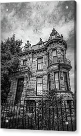 Franklin Castle In Black And White Acrylic Print by Michael Demagall