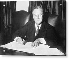 Franklin D. Roosevelt Ended Prohibition Acrylic Print by Everett