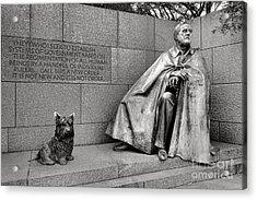 Franklin Delano Roosevelt Sculpture  Acrylic Print by Olivier Le Queinec