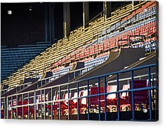 Franklin Field - Empty Stands Acrylic Print by Bill Cannon