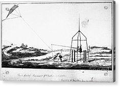 Franklin: Kite, 1788 Acrylic Print by Granger