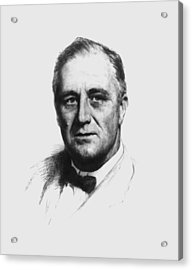 Franklin Roosevelt Acrylic Print by War Is Hell Store