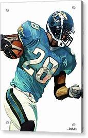 Fred Taylor Jacksonville Jaguars Acrylic Print by Michael Pattison