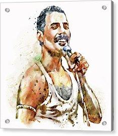 Freddie Mercury Acrylic Print by Marian Voicu