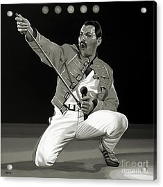 Freddie Mercury Of Queen Acrylic Print by Meijering Manupix