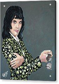 Freddie Mercury Acrylic Print by Tom Carlton